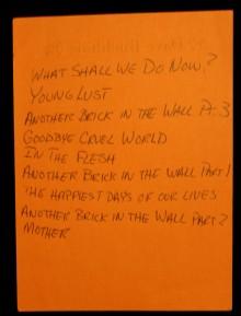 Pink Floyd Live tracklist