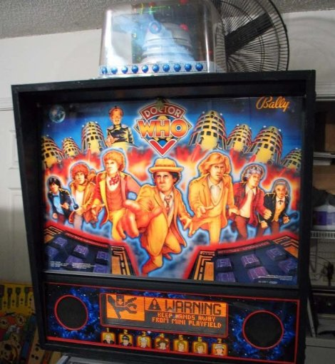 Dr Who Pinball Back Box