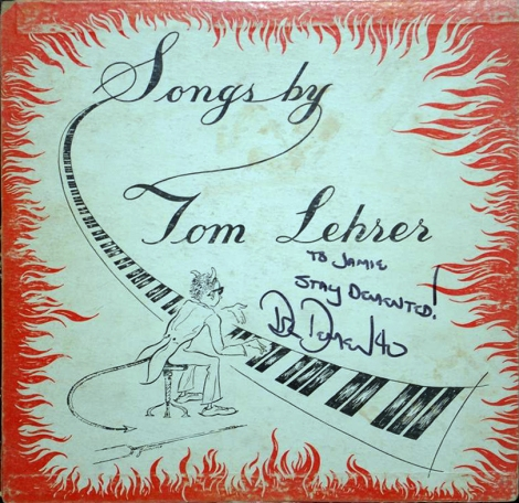 Tom Lehrer - Songs By Tom Lehrer (1953 10in autographed)