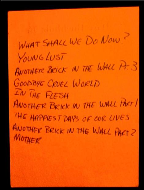 Earls Court Aug 6 Setlist