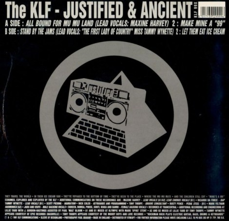 KLF - Justified and Ancient (back)