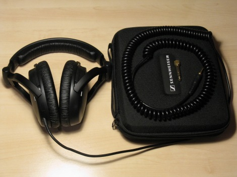 Sennheiser HD 380 Pro Headphones w Case
