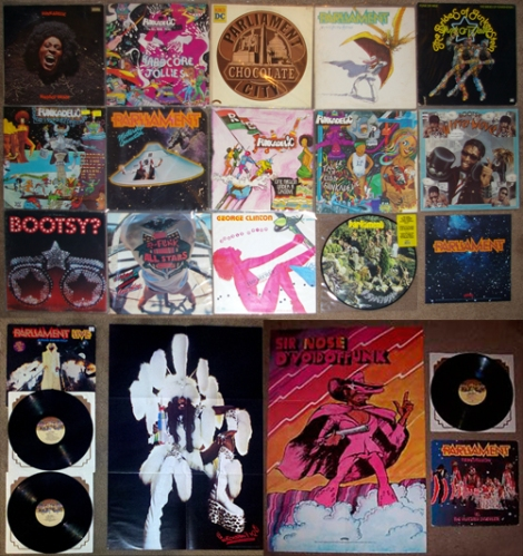 Make my funk the P-Funk - my collection before adding the LPs from the show