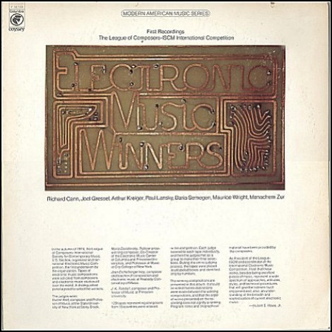 League of Composers - Electronic Music Winners