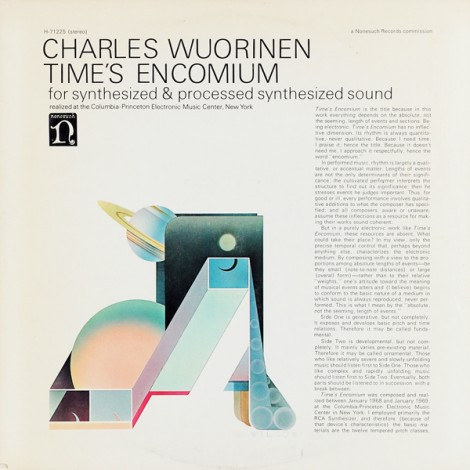 Wuorinen - Time's Encomium