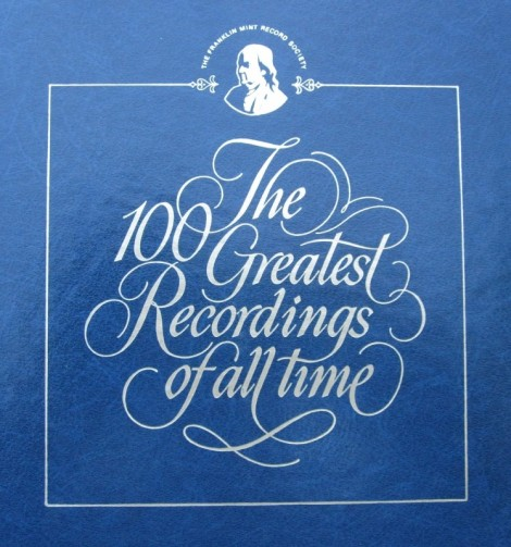 Franklin Mint - 100 Greatest Recordings of All Time (Cover)