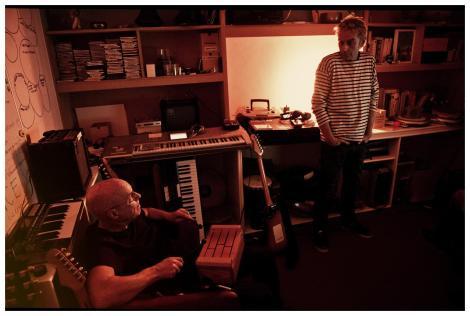 Eno & Hyde - in the studio