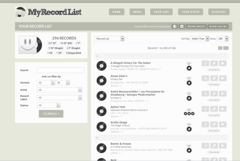MyRecordList Collection