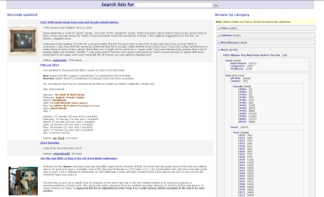 RYM - List Browse