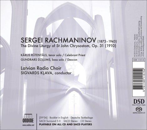 Latvian Radio Choir - The Liturgy SACD