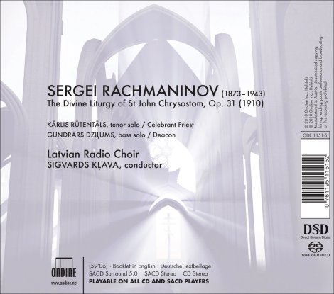 Latvian Radio Choir - The Liturgy SACD