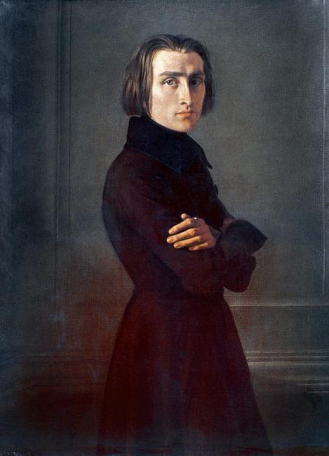 Franz Liszt, oil on canvas by Henri Lehmann, 1840