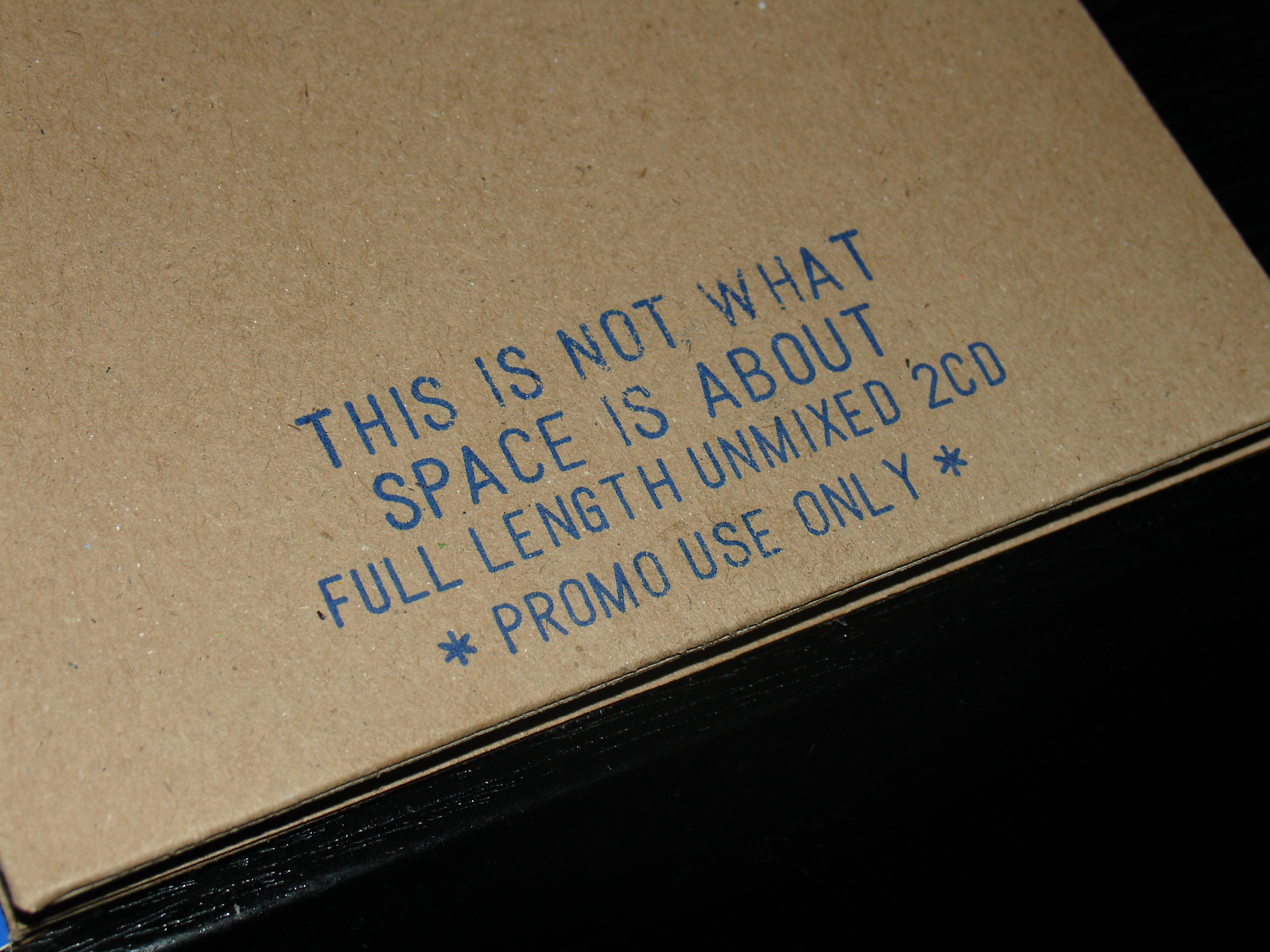 03 This is Not What Space is About Full Length Unmixed 2CD Promo (Cardboard Sleeve).JPG