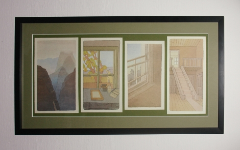 Brian Eno - Before and After Science Watercolor Lithographs by Peter Schmidt (The Framed Final Piece) 01-26-18