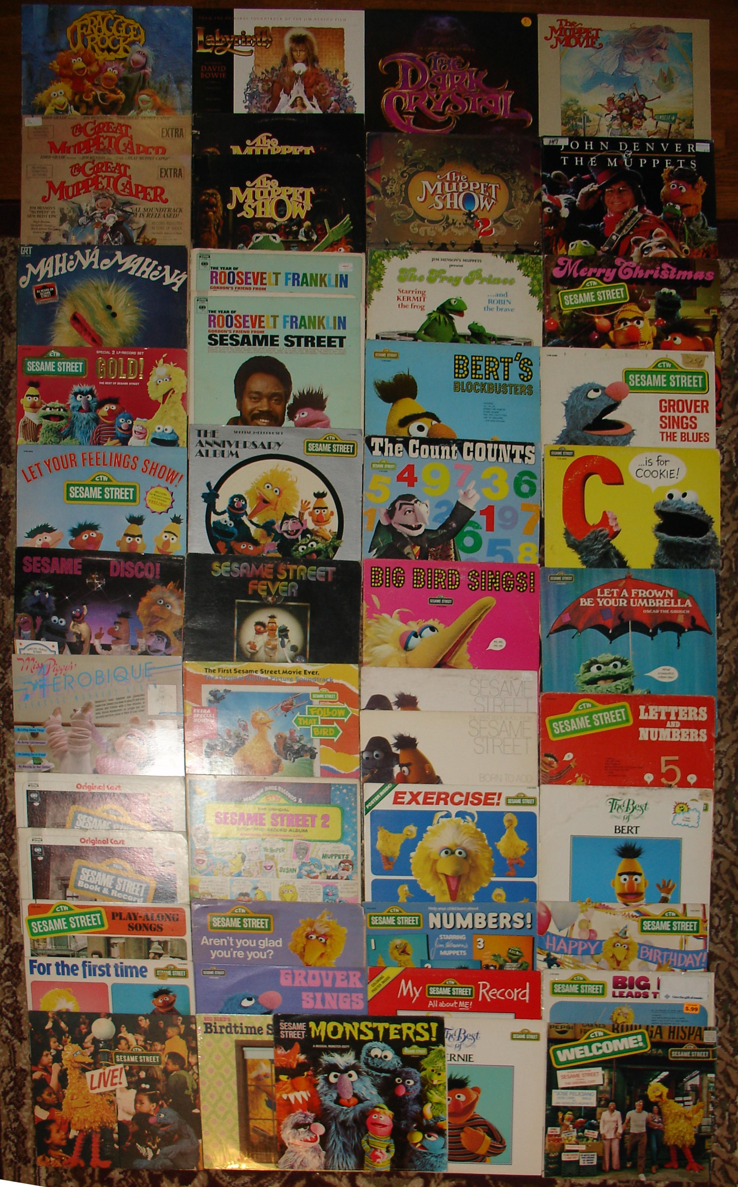 Jim Henson Record Collection 05-28-18.JPG