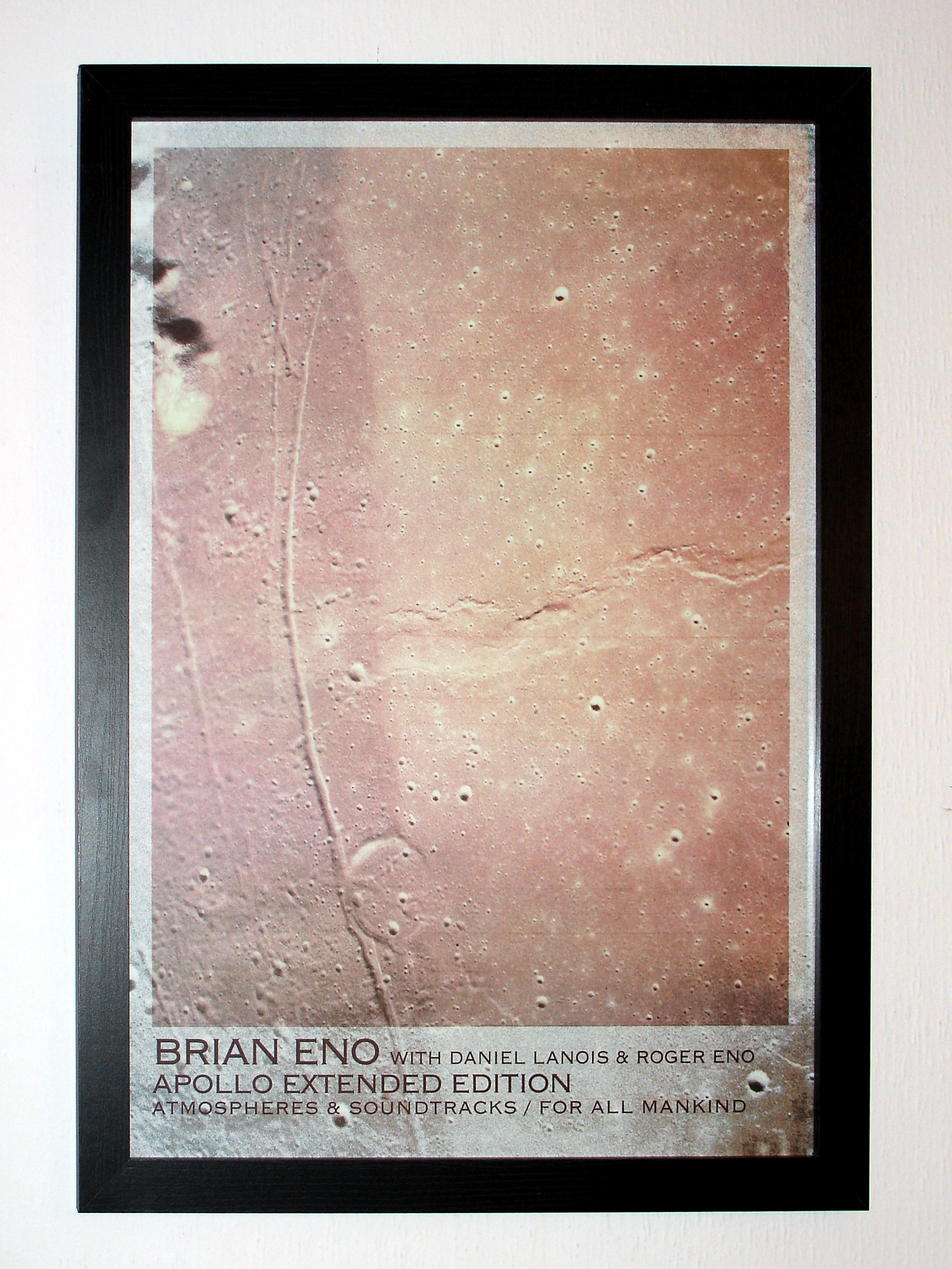 Sony Camera Version of Brian Eno - Apollo Atmospheres & Soundtracks 2019 Extended Edition A2 Limited Edtiion Lithograph Art Print Framed
