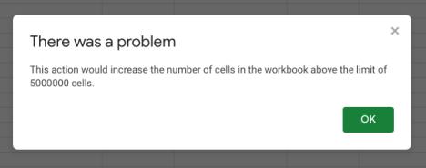Google Error 5 Million Cells Spreadsheet Workbook.png