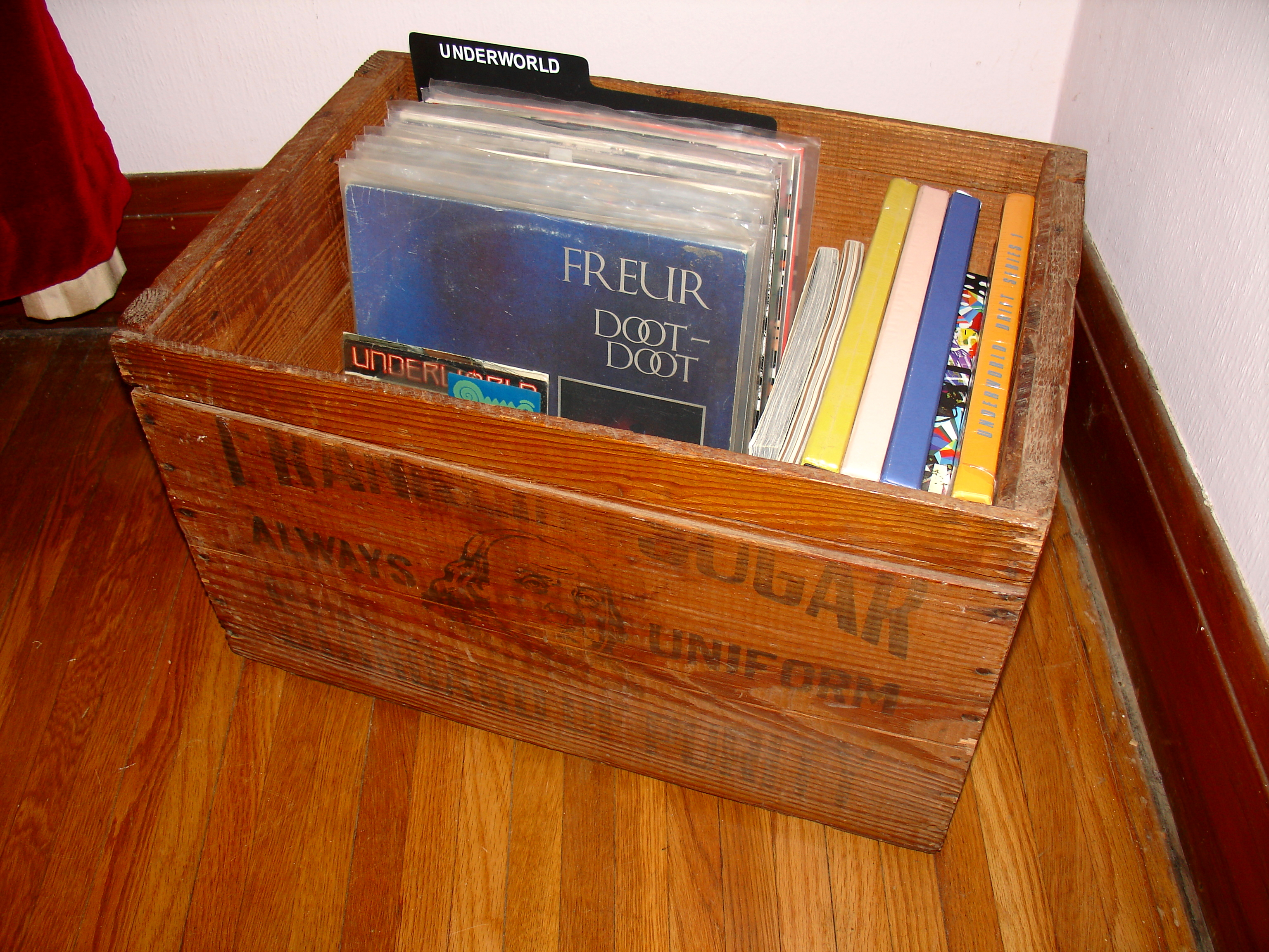 Ben Franklin Wooden Crate with Underworld Collection Inside 02-22-2020