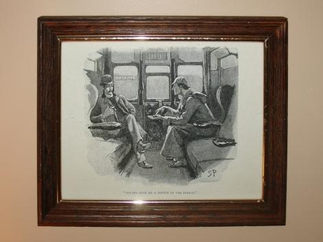 Sherlock Holmes Framed Illustration
